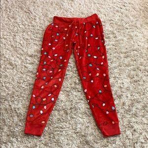Live love dream fleece pajama pants